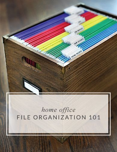 Home file Organization 101. Great for the new year!