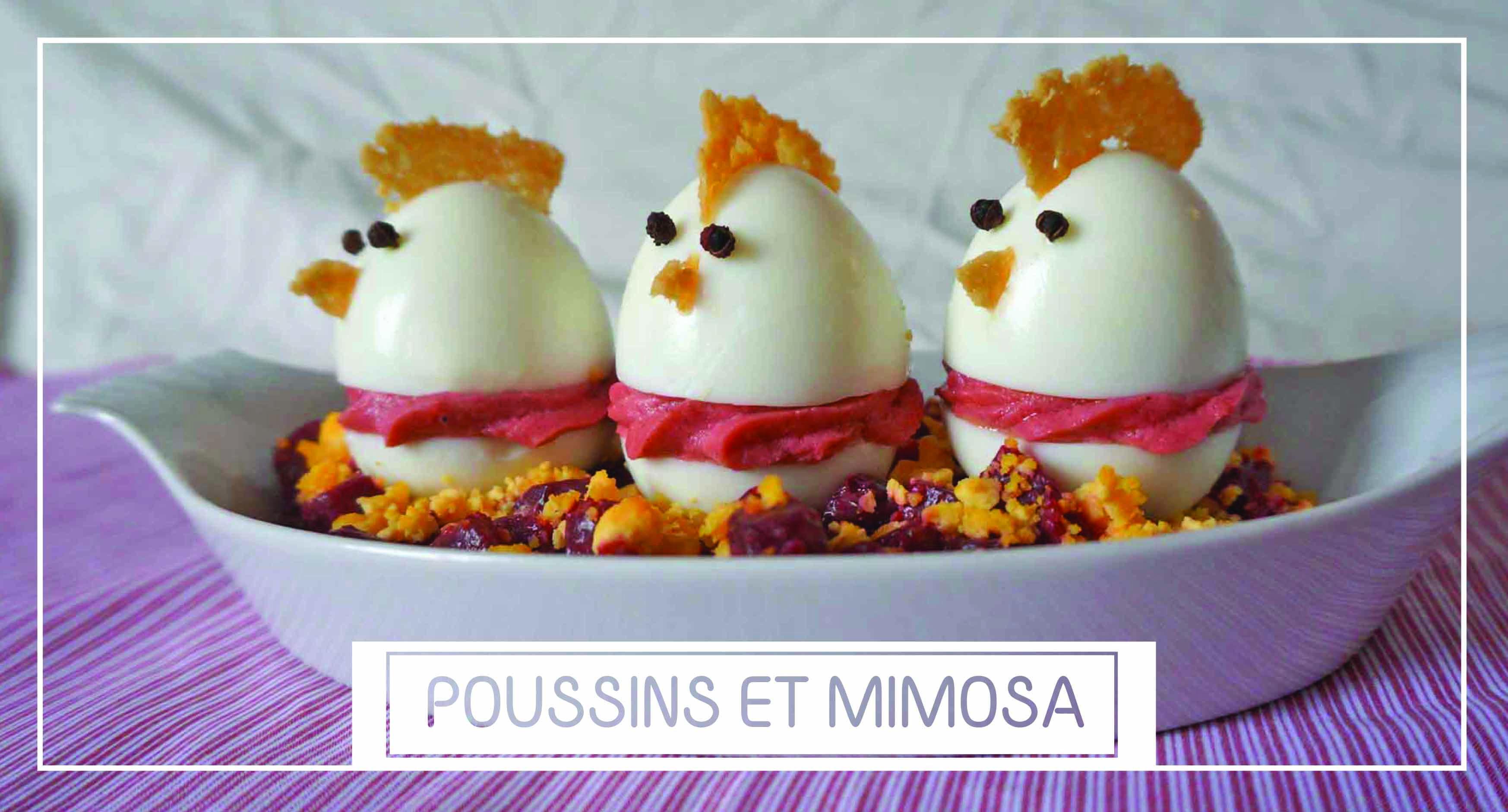 Mon coup du coeur du jour poussins mimosas betterave a for Idee repas partage