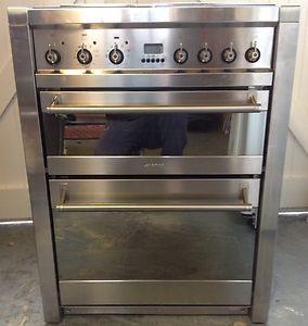 Smeg Opera A42 Dual Fuel Range Cooker 70cm In Stainless Steel Ebay