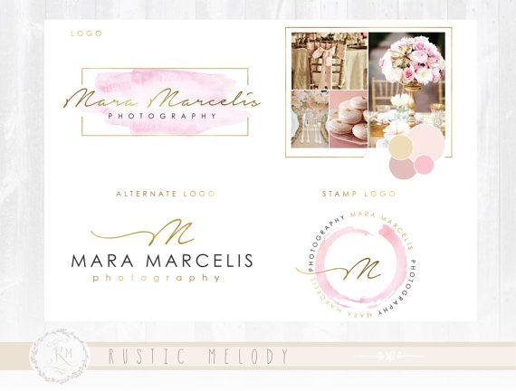 Branding Package Photography Logo Design Wedding Logo Boutique Logo Events Logo Decor Logo Design Watercolor Logo Floral Logo Watermark