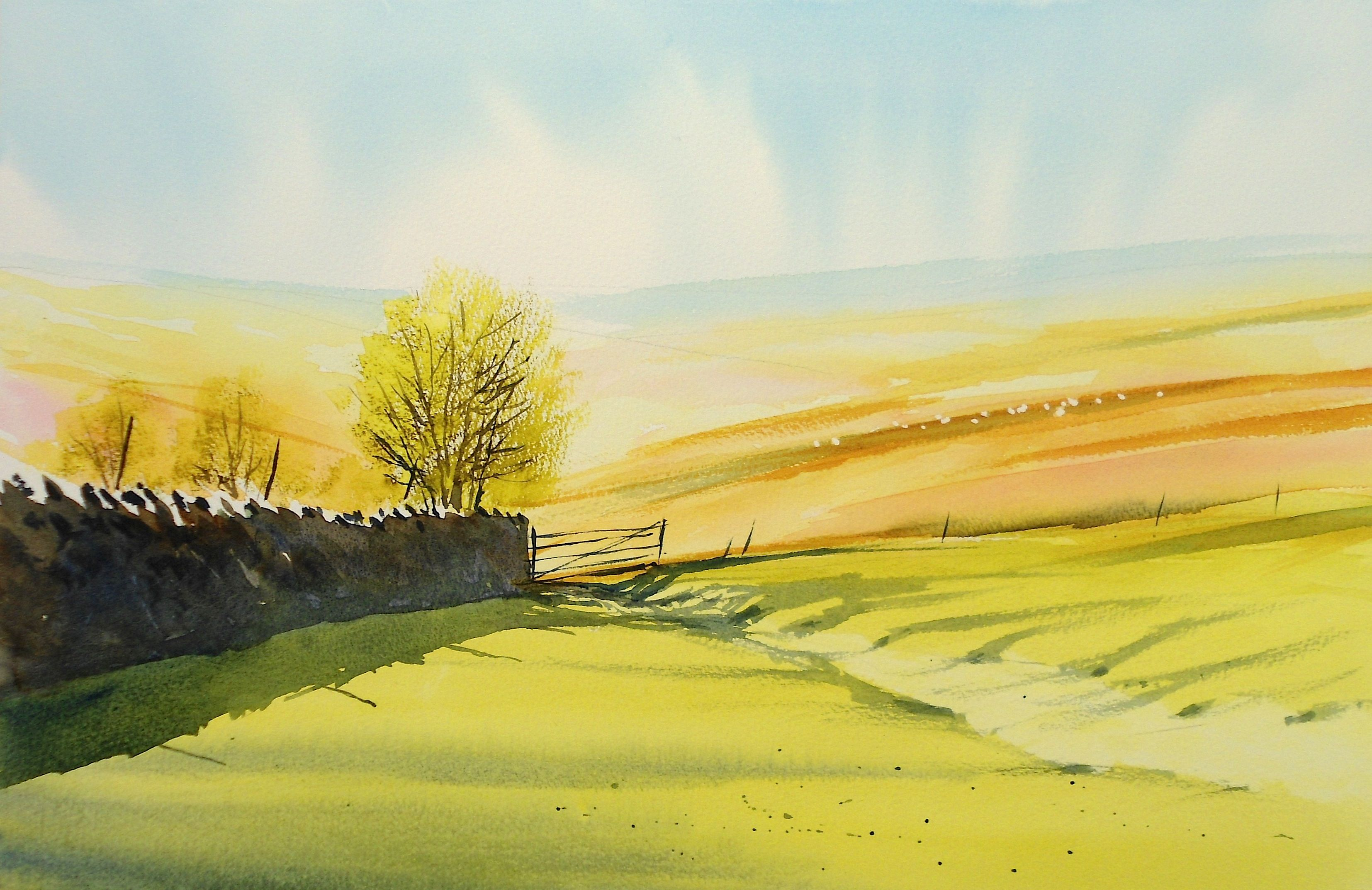 Watercolour Video Instruction Corner Of Dartmoor By Rob Dudley At
