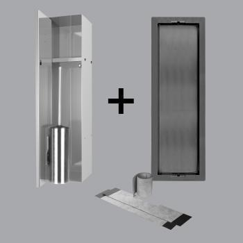 ess container t roll einbau wc brstenhalter und nische fr nass und trockenbau - Dusche Nische Licht