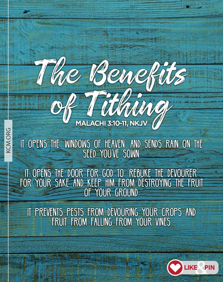 One of the most important rules of reaping is tithing. A ...
