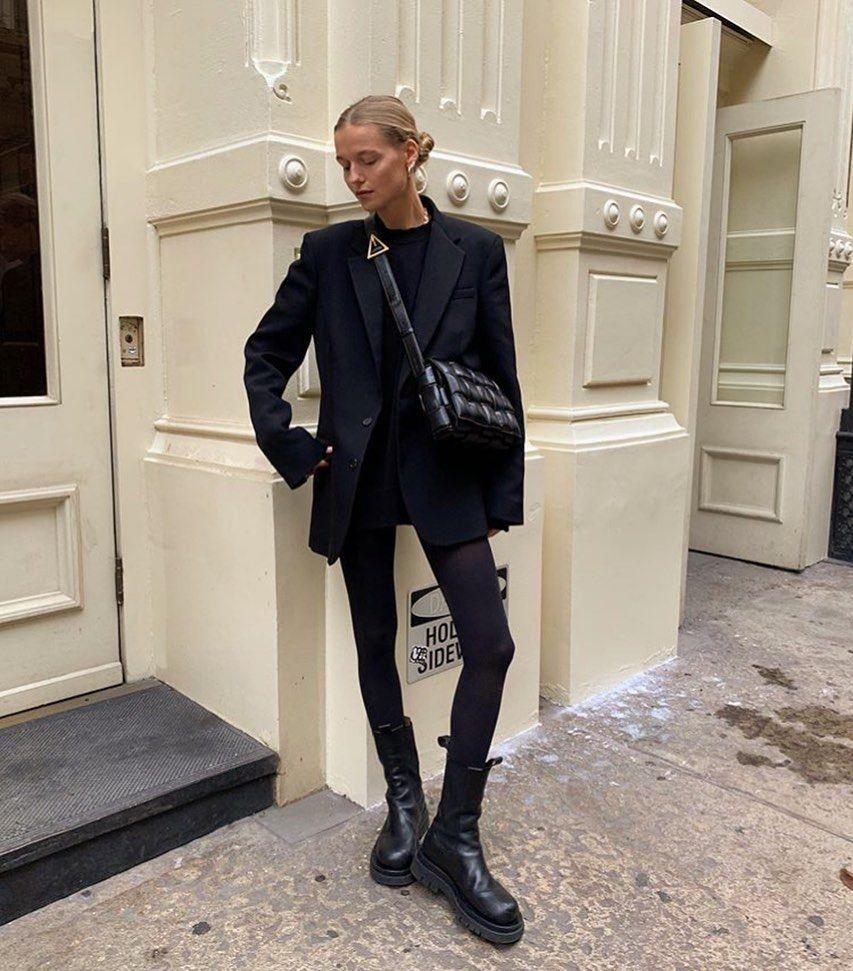 "BOTTEGA VENETA by Daniel Lee on Instagram: ""Total black realness ✨ featuring the padded cassette bag via Mary Virginia 🖤 #NewBottega #DanielLee..."