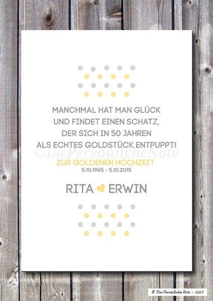Druckprint Goldene Hochzeit 50 Ehejubiläum Von Die