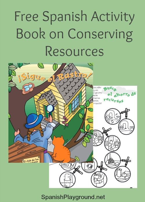 free spanish activity book for earth day spanish games for kids spanish activities book. Black Bedroom Furniture Sets. Home Design Ideas