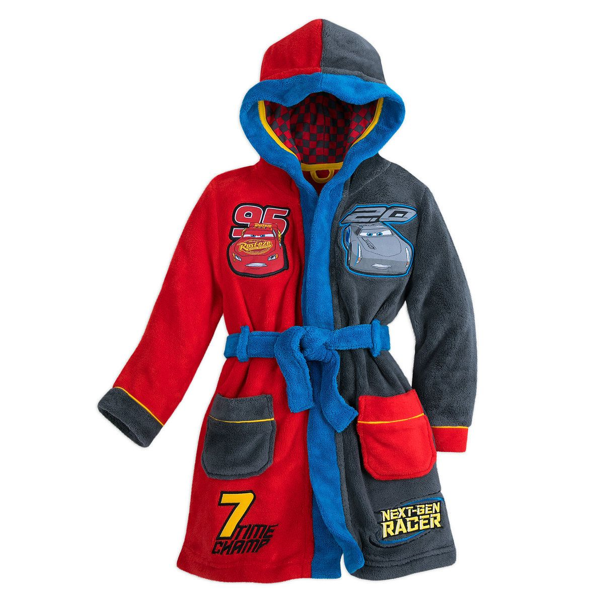lightning mcqueen and jackson storm robe for boys  cars 3