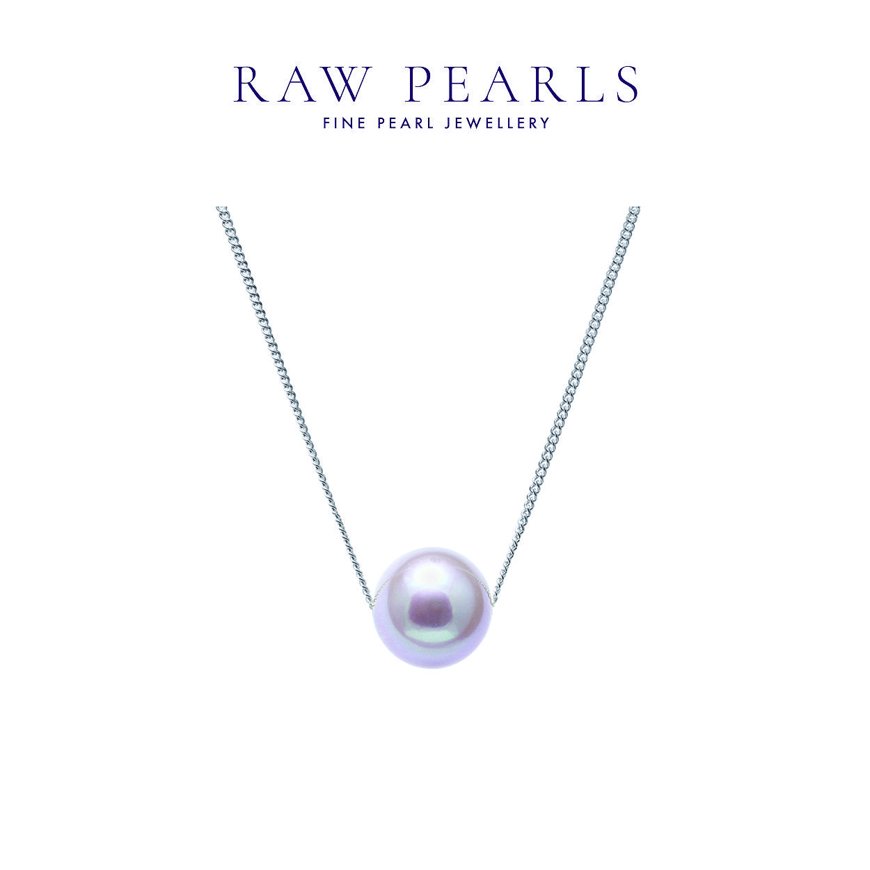 99ae2cdeb08d0 Single pink pearl on white gold chain from our #awardwinning ...