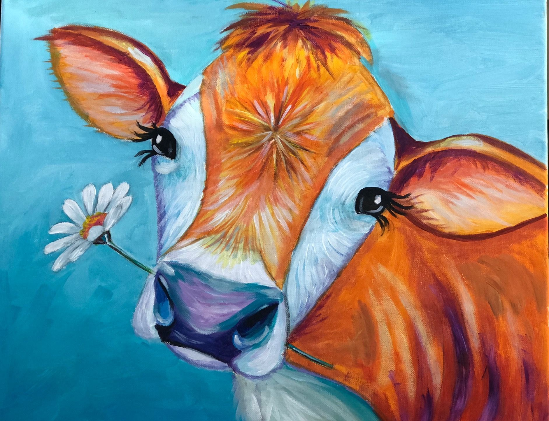 Daisy The Happy Cow Cow Paintings On Canvas Wine Painting Cow Canvas,Types Of Quasi Experimental Research Design
