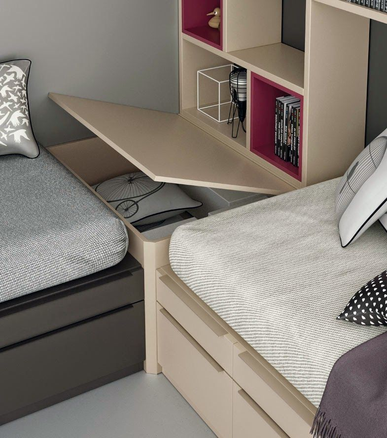 Dormitorios juveniles para dos hermanos dormitorios - Mueble infantil madrid ...