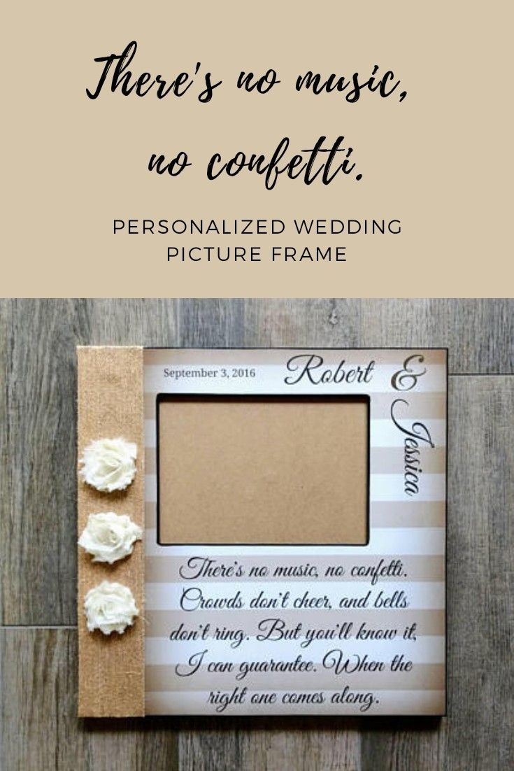 Personalized Wedding Song Lyric Picture Frame | First Dance Picture ...