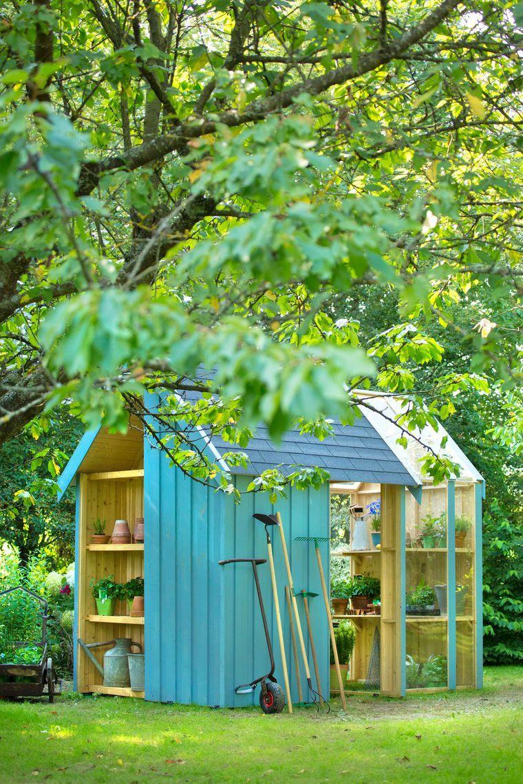 Abri de jardin bois, pvc, toit plat | Home projects | Pinterest