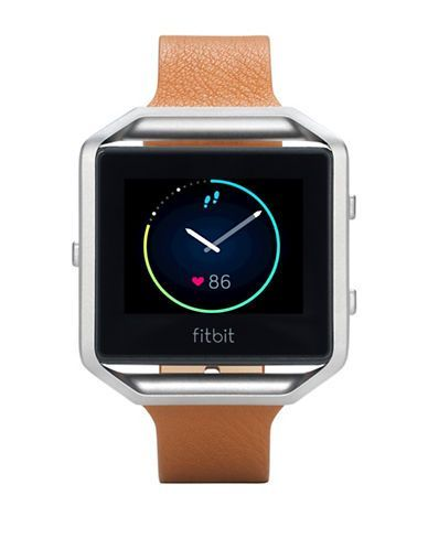 Fitbit Blaze FB159LBSCMS Small Leather Accessory Band Men's Light