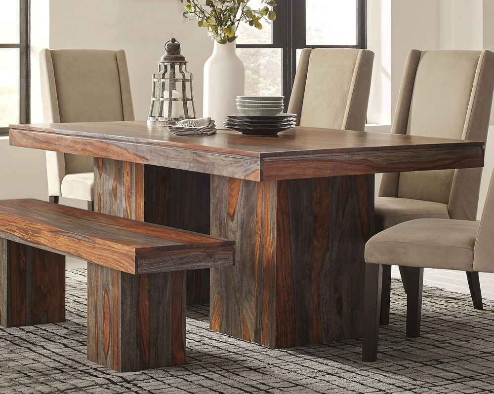 Townsend Grey Sheesham Wood Rectangular Dining Table By Coaster