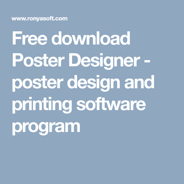 free download ronyasoft poster maker for creating posters banners
