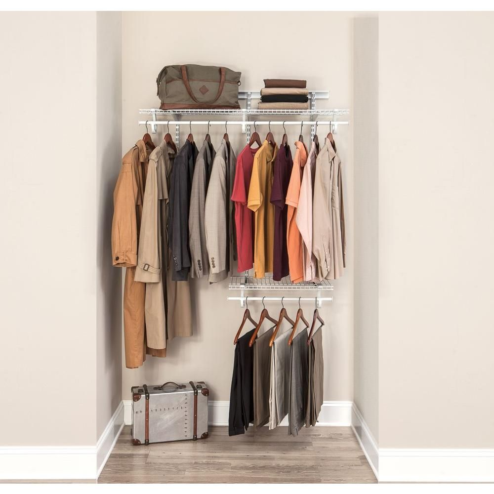 Closetmaid Shelftrack 2 Ft To 4 Ft White Wire Closet Organizer