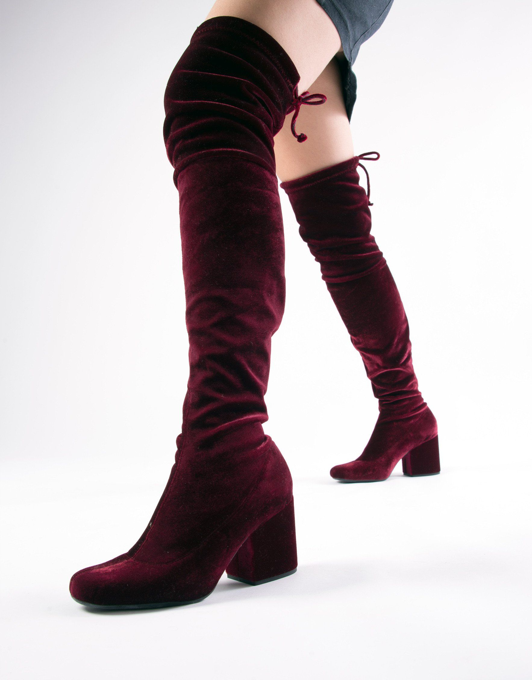 41fd2a467 PREVIEW BOTA OVER THE KNEE VELVET BORDÔ