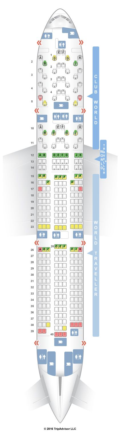 Seatguru Seat Map British Airways Boeing 777 200 772 Three Class