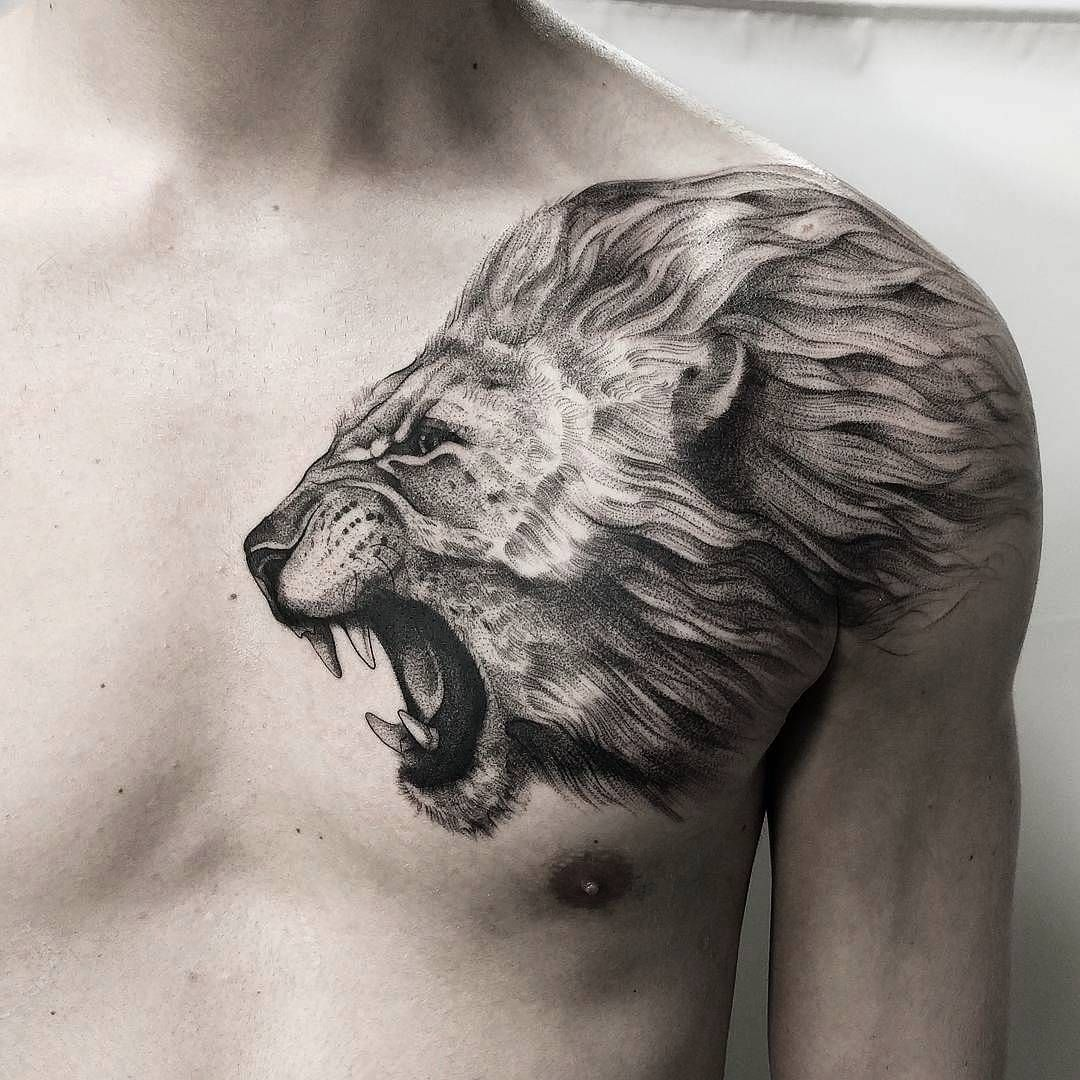 78 Lion Tattoo Ideas Which You Like July 2020 Lion Chest Tattoo Lion Head Tattoos Lion Shoulder Tattoo