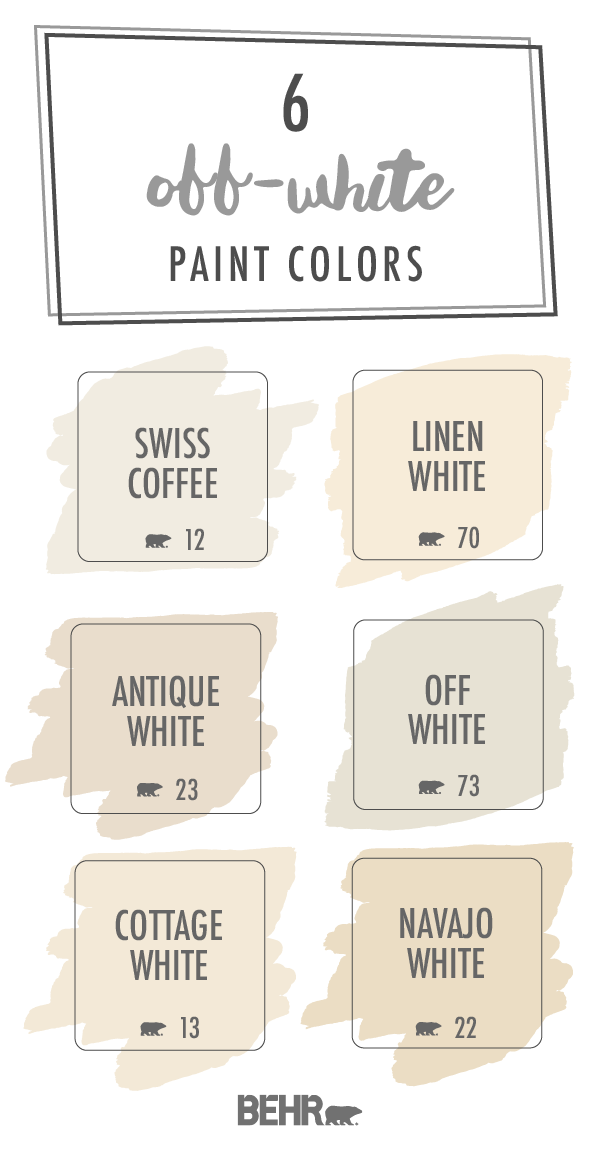 Kick Off The New Year On A Neutral Note With This Off White Behr Paint Color Palette The Perfect Addi Indoor Paint Colors Behr Paint Colors White Paint Colors