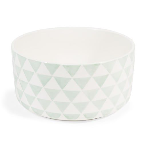 GUSTAVE earthenware salad bowl in green