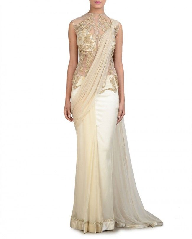 Beautiful sari/gown hybrid | Latest trending sari-gowns | Pinterest ...