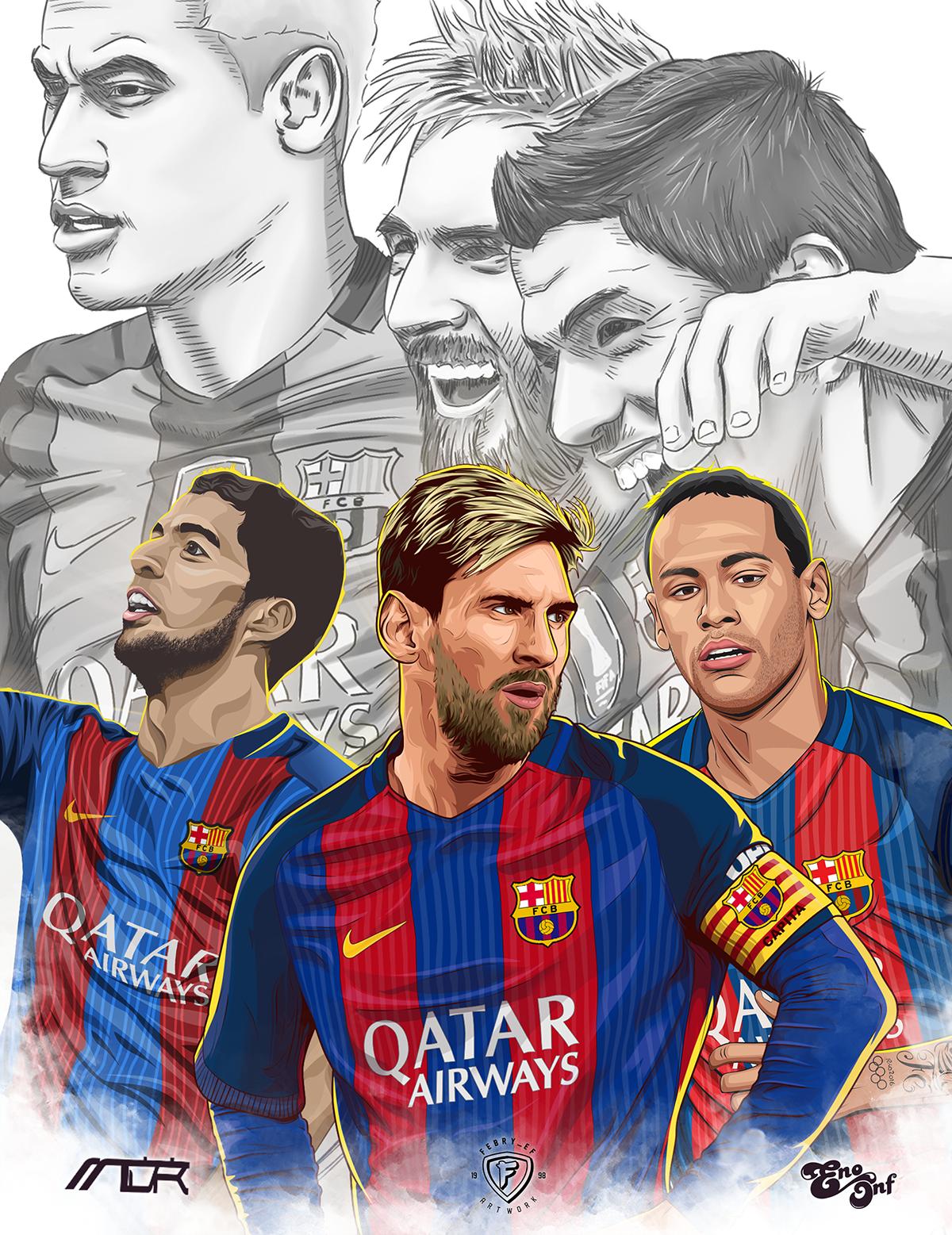 MSN on Behance Desenho futebol, Jogadores de futebol