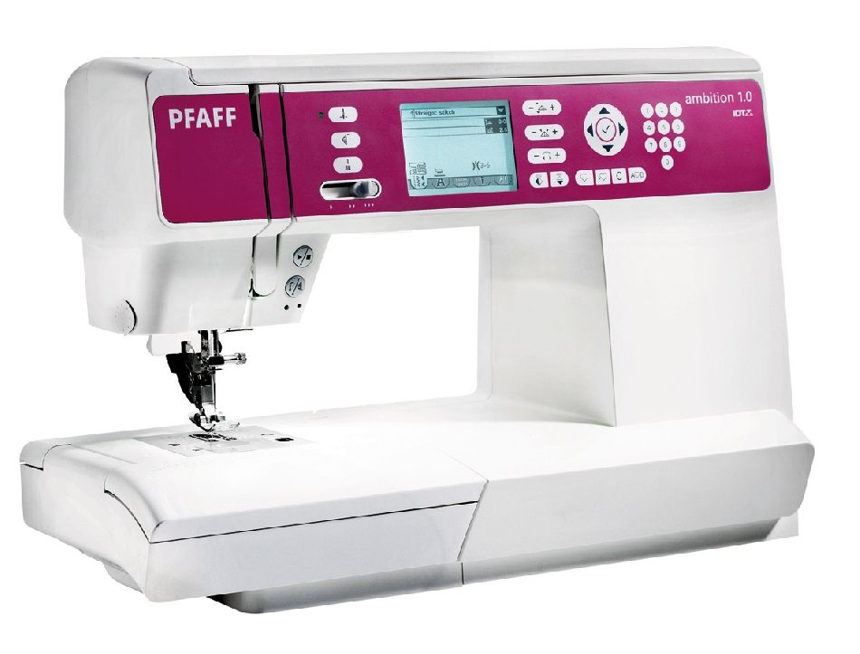 Pfaff Ambition 1.0 : This is what I wound up with for my very first sewing machine. Wish me luck.