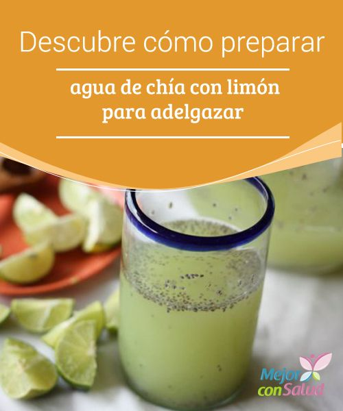 como se prepara agua de chia con limon
