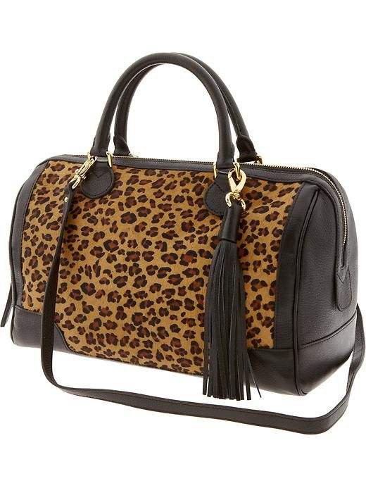 Oh dear...I'm simply in love with this leopard print satchel!