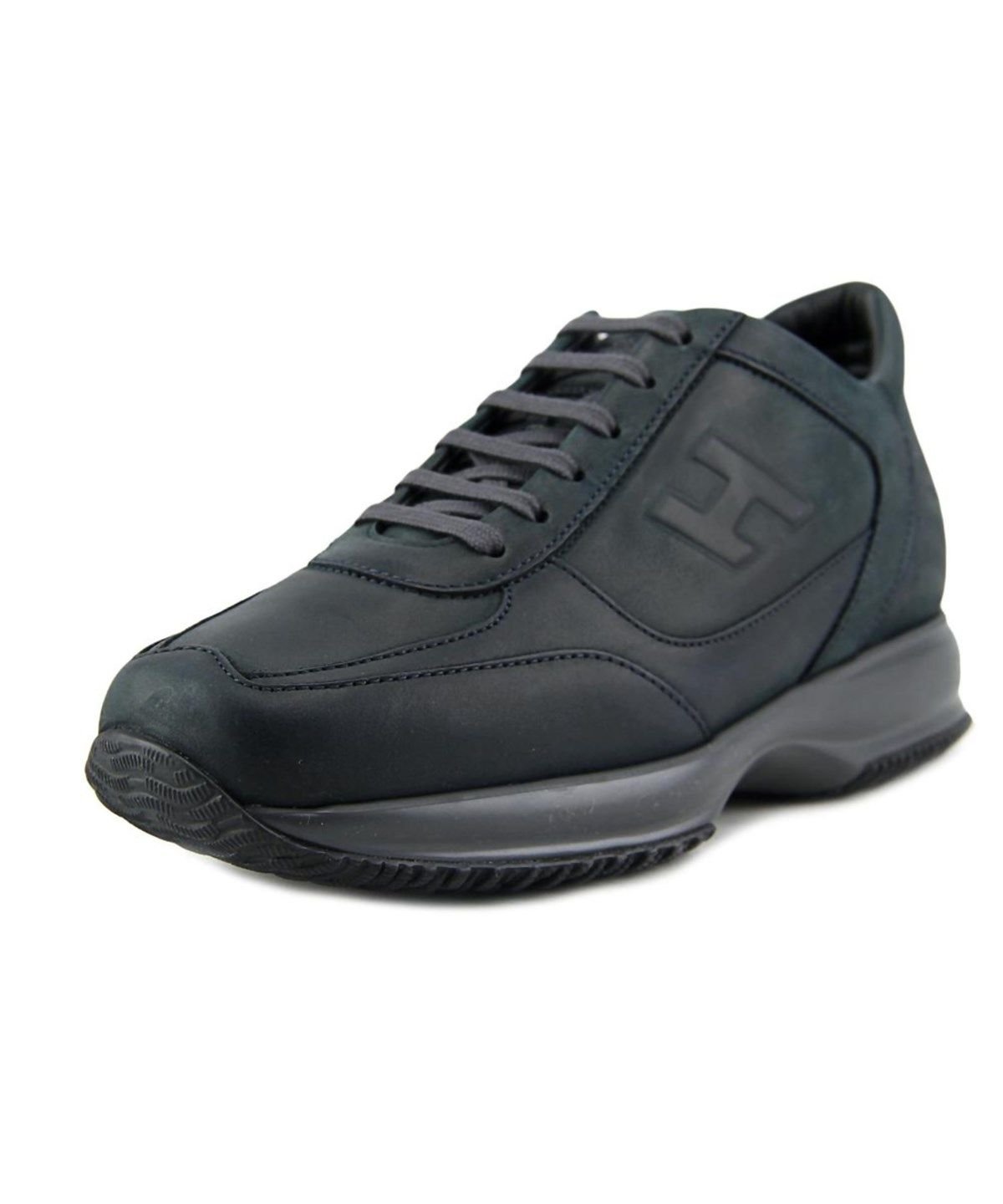 HOGAN Hogan Interactive N20 Sneaker H Rilievo Men Round Toe Leather Black  Sneakers'. #