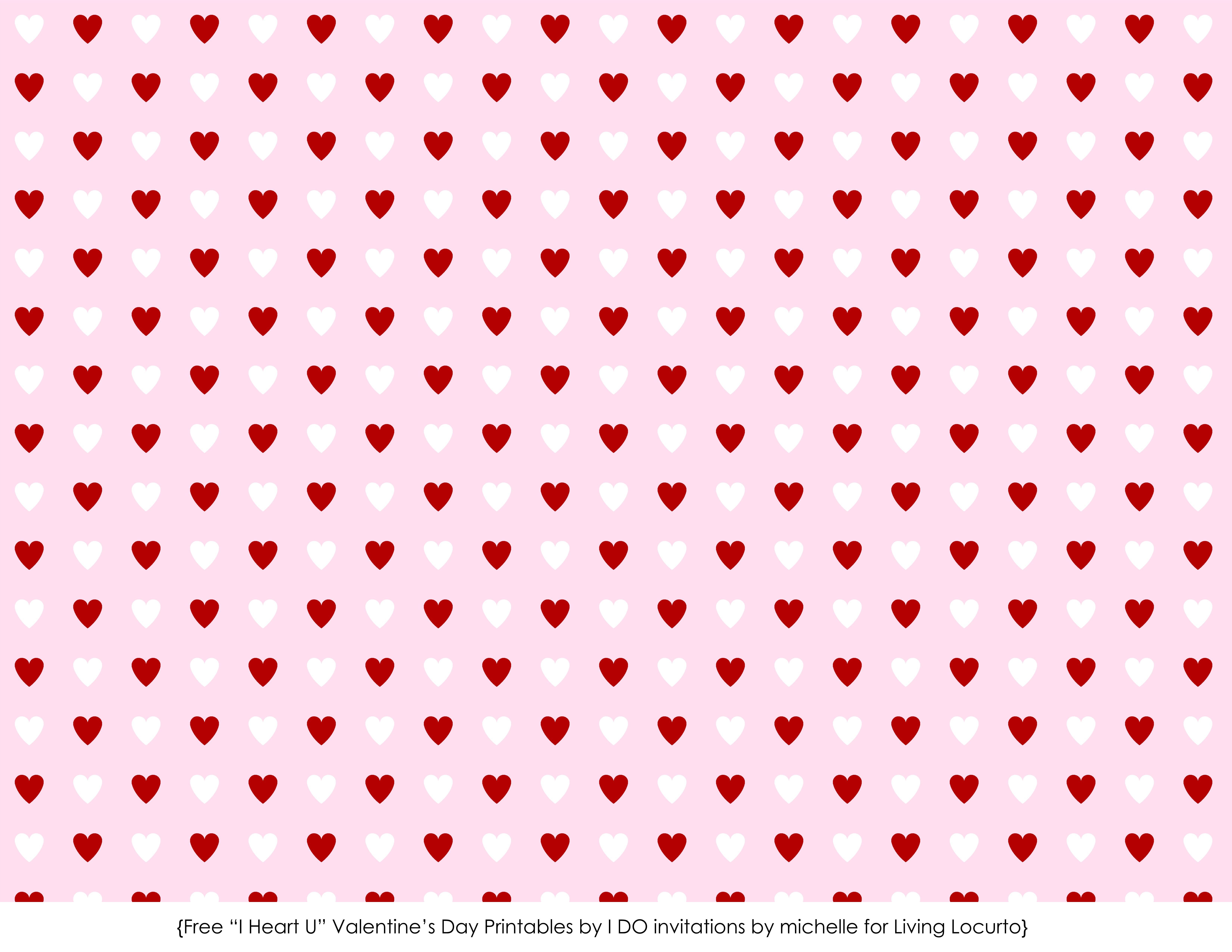 Scrapbook paper designs to print - Free Printable Valentine Cards Love Notes