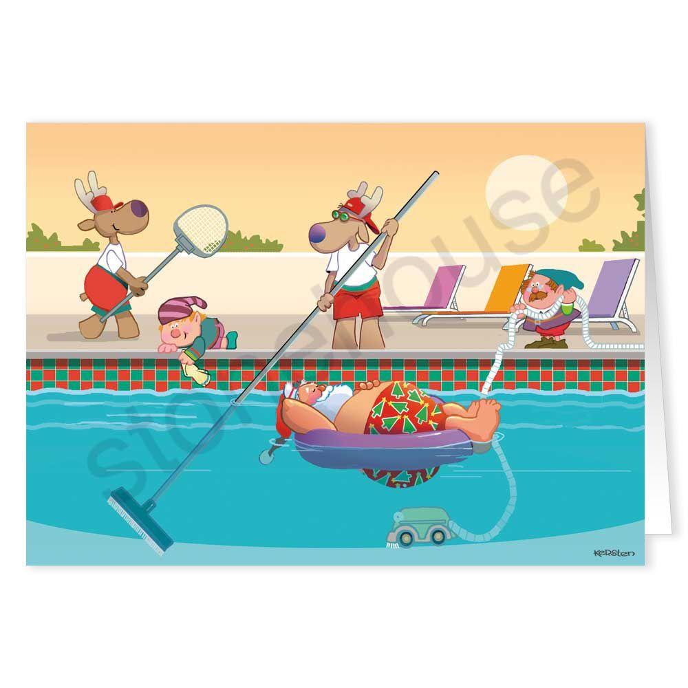 Pool Service Christmas Card Company christmas cards