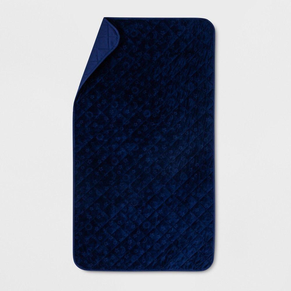 Twin Waterproof Sleep Anywhere Pad Blue - Pillowfort™