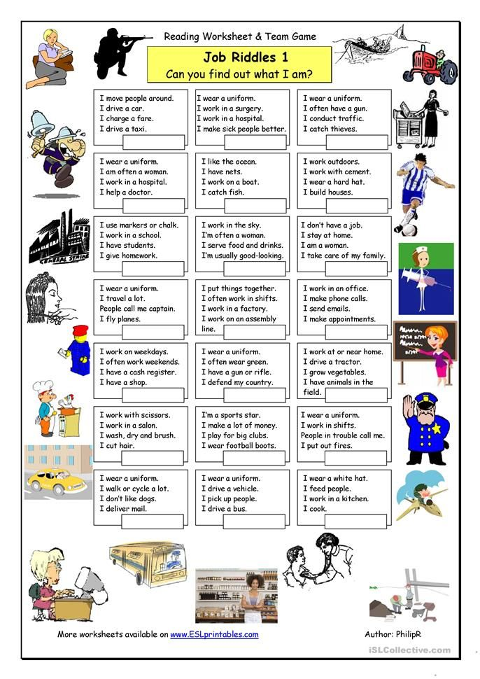 Job Riddles (1) Easy Learn english, Writing lessons