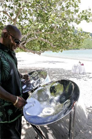 Steel Pan For Wedding At Magens Bay Beach St Thomas Usvi Caraibes Musique Guadeloupe