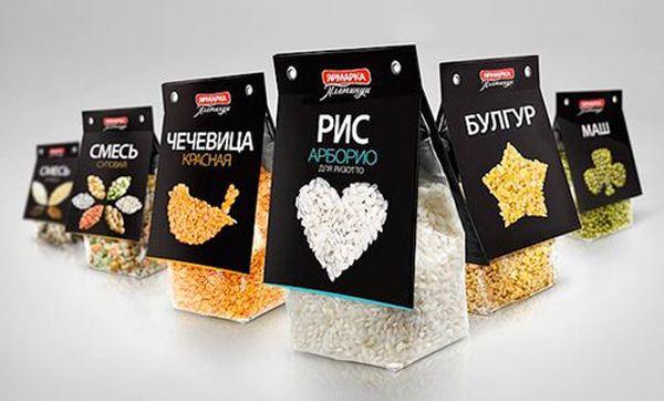 organic grains packaging