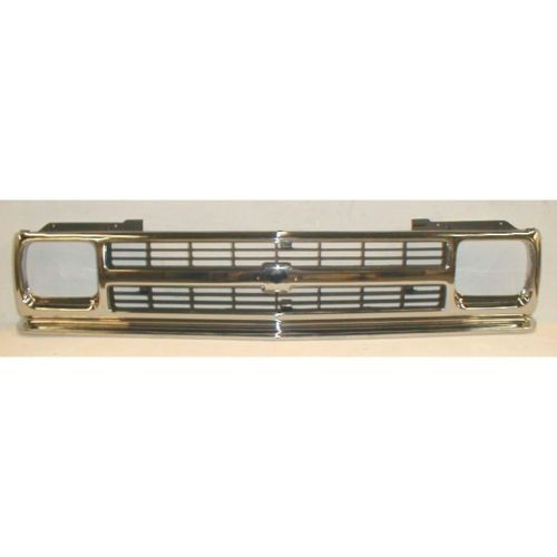 Chrome Dk Gray Front End Grille Grill For 91 93 Chevy S10 Pickup Truck Blazer Ebay Chevy S10 S10 Pickup S10 Blazer