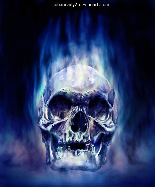 blue wallpaper skull - photo #26