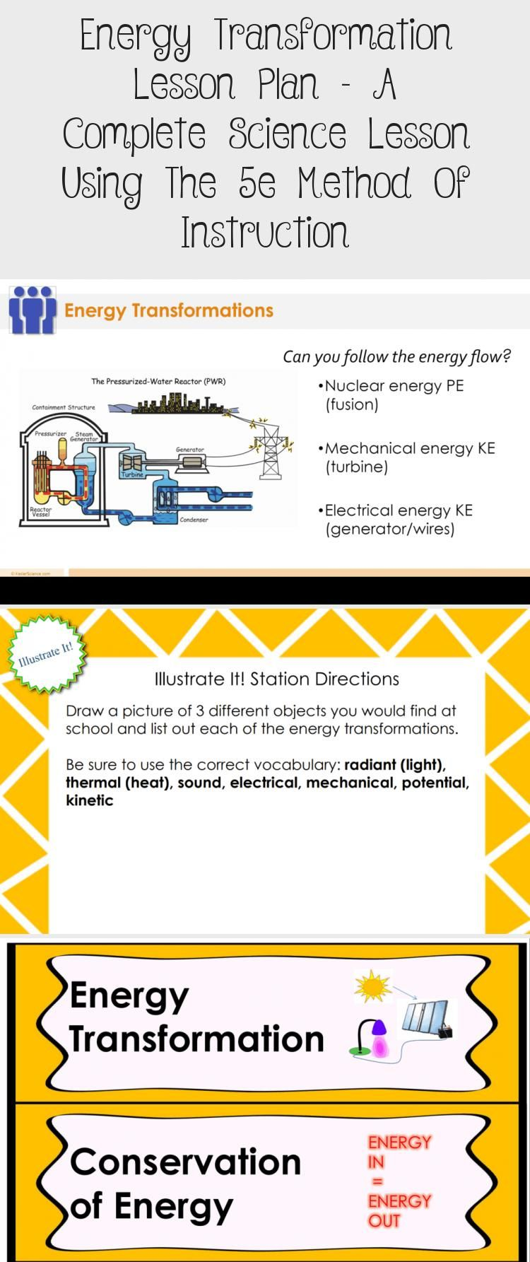 Energy Transformation Lesson Plan A Complete Science Lesson Using The 5e Method Of Instru Science Lessons Energy Transformations Interactive Science Notebook