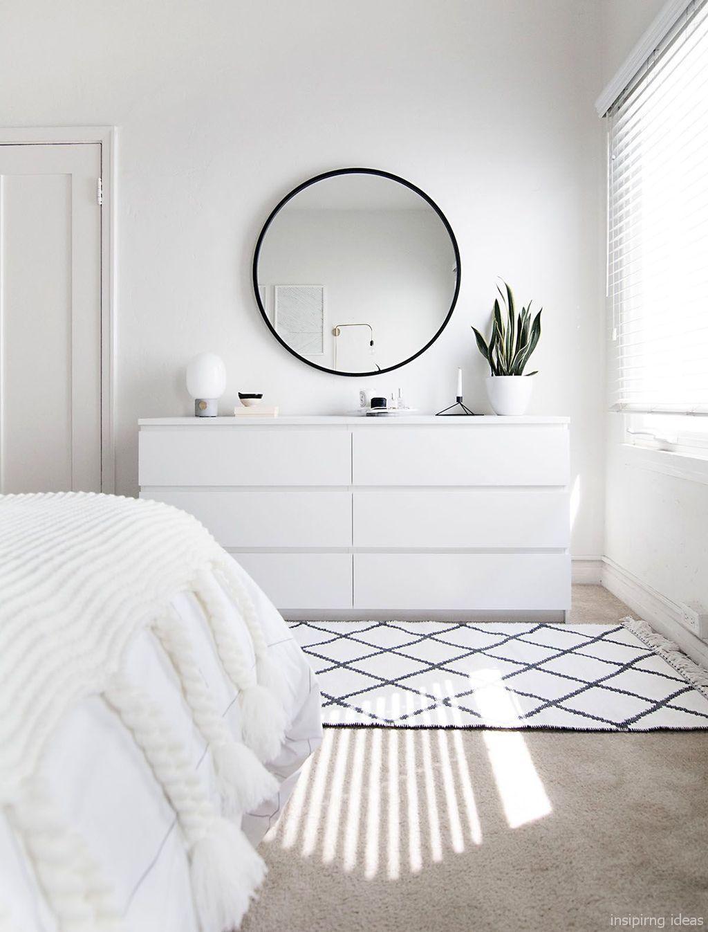 80 Minimalist Diy Bedroom Decor Ideas All White Bedroom Simple