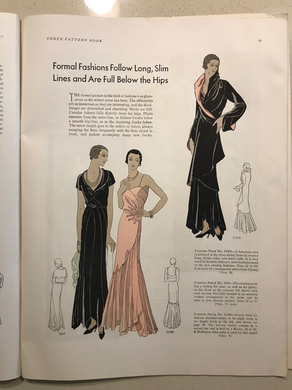 23711f8470a70 Vogue Pattern Book, Early Summer April-May 1931 featuring Vogue 5549,  S-3483 and S-3479