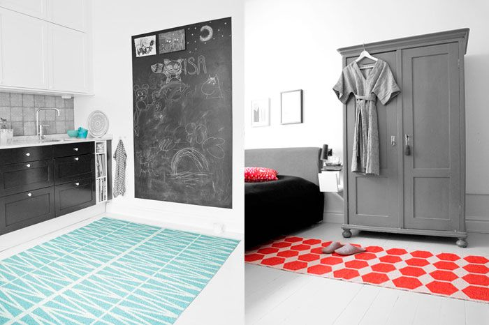 Woven Plastic Rugs By Brita Sweden