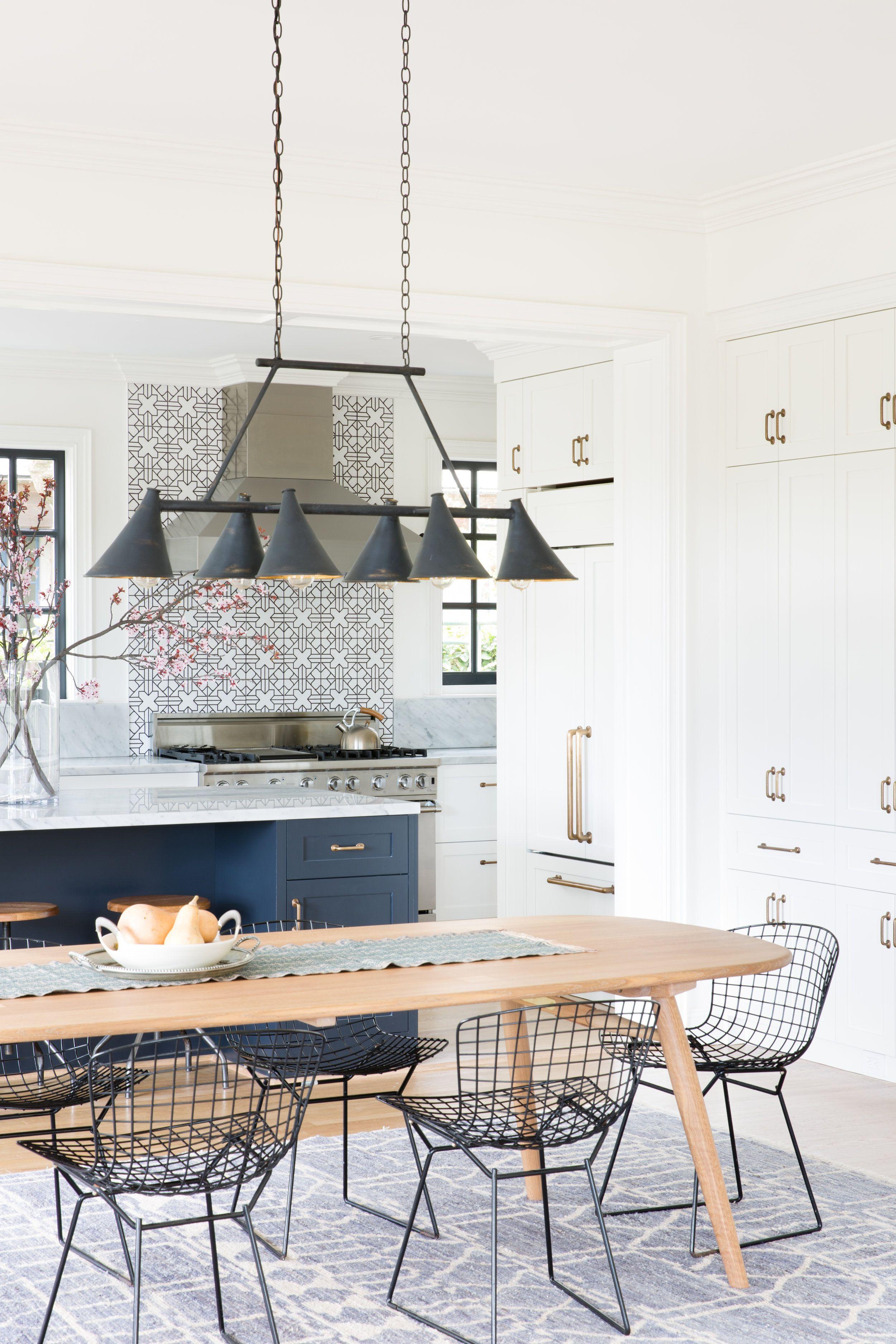 Modern Dining Chairs  A Boho Rug  Regan Baker Design  Dining Stunning Islands Dining Room 2018