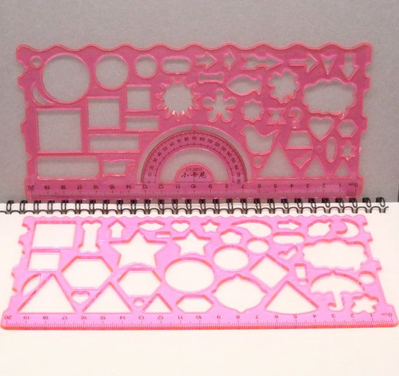 Set Of 2 Planner Stencils Bullet Journal Stencil Ruler Template Star Tr