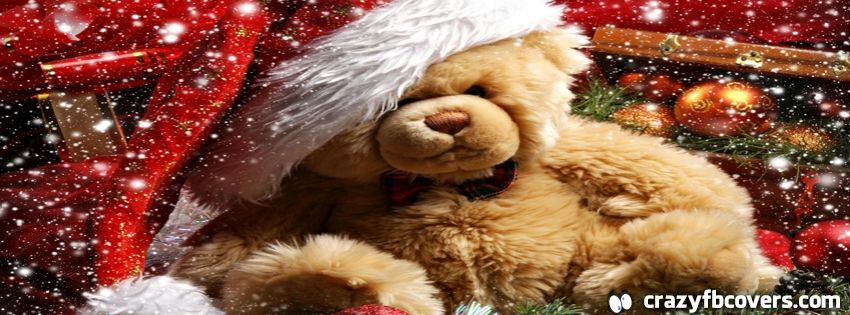 Christmas Teddy Bear Facebook Cover Facebook Timeline Cover Photo