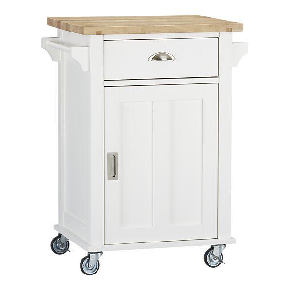 Crate & Barrel Belmont White Kitchen Cart | ou le coeur est maison ...
