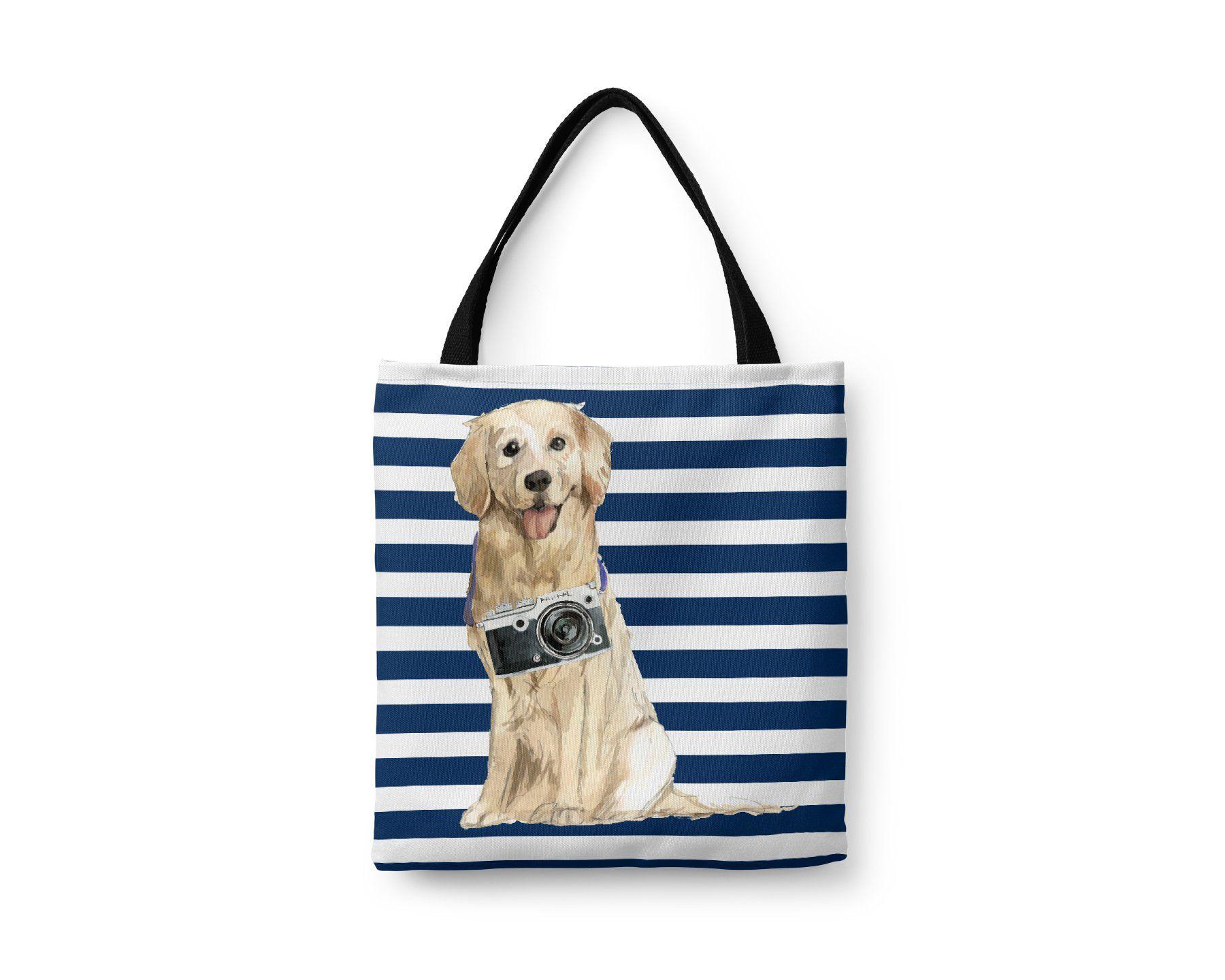 Labrador Retriever Black Brown Golden Tote Bag Illustrated