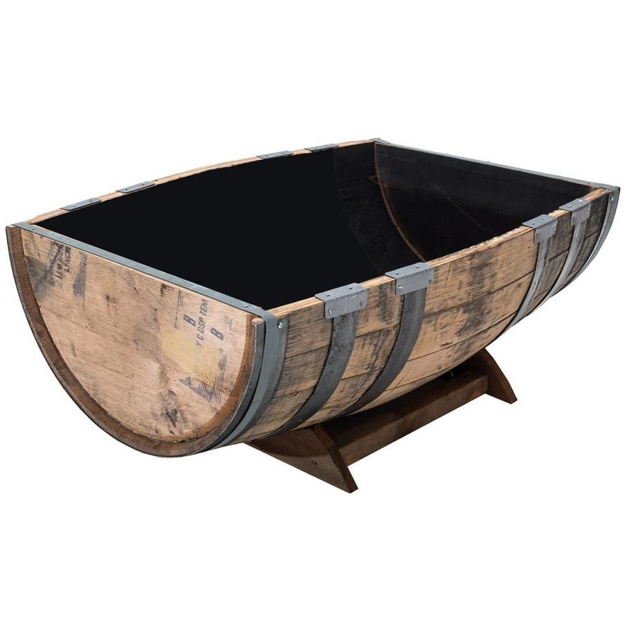 Real Wood Products 36 In W X 14 In H Brown Wood Barrel Lowes Com In 2020 Barrel Garden Planters Oak Barrel Wine Barrel Planter