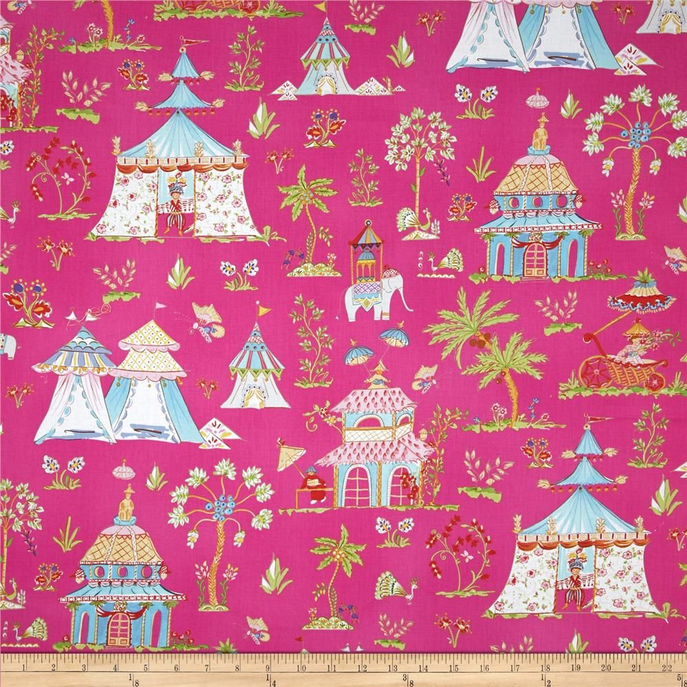 Haute Girls Toile Pink Home Decor Fabric Discount Fabric Baby